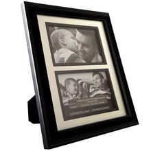 "Studio Décor Expressions 2-Opening Collage Frame, Black 4""x6"""