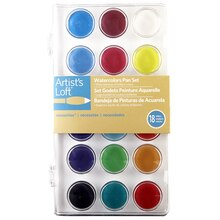 Artist's Loft Necessities Watercolor Pan Set, 18 Count