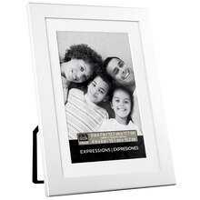 "Studio Décor Expressions Aluminum Frame With Mat, Silver 4"" x 6"""
