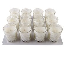 Celebrate It Occasions Votive Candle, White Damask