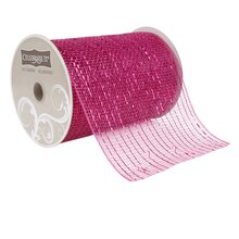 "Celebrate It Occasions Mesh Ribbon, 5 1/2"", Fuchsia"