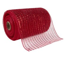 "Celebrate It Occasions Mesh Ribbon, 5 1/2"", Red"