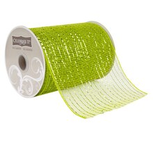 """Celebrate It Occasions Mesh Ribbon, 5 1/2"""", Lime Green"""