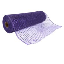 "Celebrate It Occasions Mesh Ribbon, 12"", Purple"