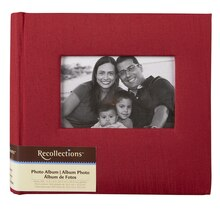 Recollections Silky Photo Album, 2 Pocket, Crimson