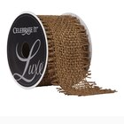 Celebrate It Luxe Wired Burlap Ribbon, Gold
