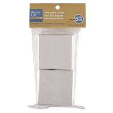 "Artist's Loft Mini Canvas Set, 2"" x 2"" White"