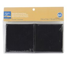 "Artist's Loft Necessities Mini Canvas Panels, 4"" x 4"" Black"