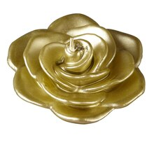 Ashland Floating Rose Candle, Metallic Gold