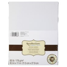Recollections Cardstock Paper, White Gold