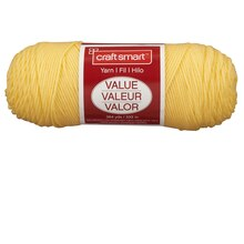 Craft Smart Yarn, Solid, Butter