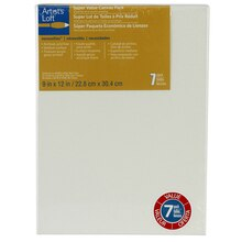 "Artist's Loft Necessities Canvas Super Value Pack, 9"" x 12"""