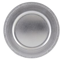 Ashland Diamond Charger, Silver