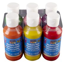 ArtMinds Washable Tempera Paint 6 Pack, Midtone Colors