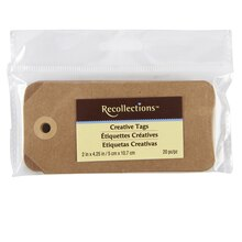 Recollections Creative Tags, Kraft, 20 Count