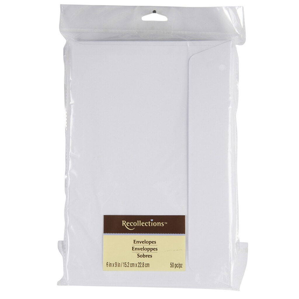6 quot x 9 quot white envelopes by recollections 174