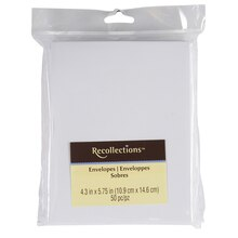 "Recollections White Envelopes, 4.3"" x 5.75"""