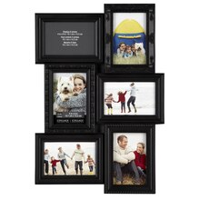 "Studio DĎcor Collage Collection 6-Opening, 4"" x 6"" Frame, Black"