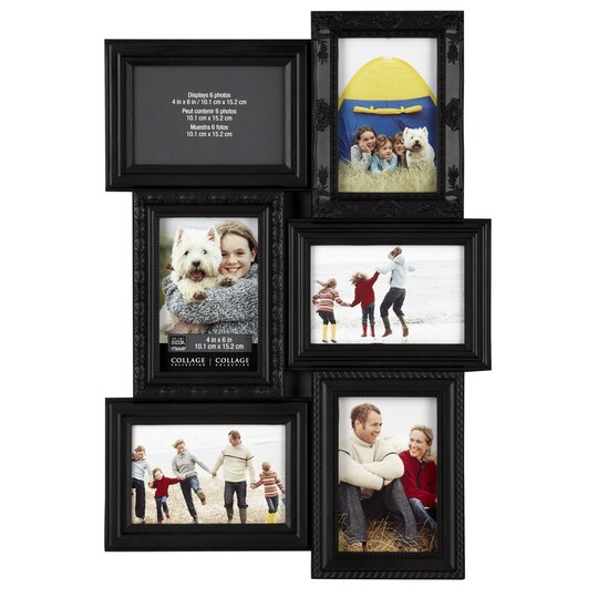 6 opening collage frame 4 x 6 by studio d cor - Six pictures photo frame ...
