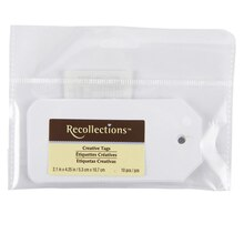 Recollections Creative Tags, White