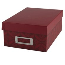 Decorative Photo Box by Recollections, Maroon