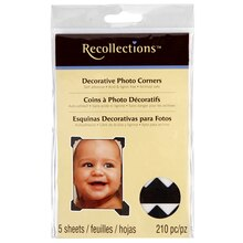 Recollections Color Photo Corners, Black