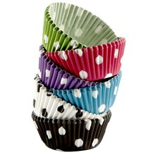 Celebrate It Mini Baking Cups, Assorted Polka Dots