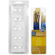 Artist's Loft Necessities Natural Bristle Oil Brush Combo, 5 Pieces