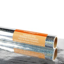Celebrate It Holographic Roll Wrap, Silver