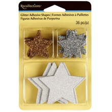 Recollections Glitter Adhesive Shapes, Stars