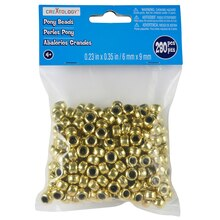 Creatology Pony Beads, Metallic, Gold