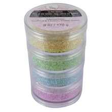 Bead Landing Glass Beads, Round Stacker, 10/0 Cut, Pastels