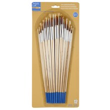 Artist's Loft Necessities Brown Synthetic Round Brushes