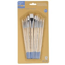 Artist's Loft Necessities White Synthetic Flat & Round Brushes