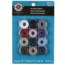 Loops & Threads Reusable Bobbins, Assorted Colors