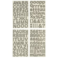 Recollections Alphabet Stickers, Block Sterling
