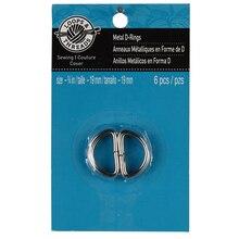 """Loops & Threads Metal D-Rings, 3/4"""""""