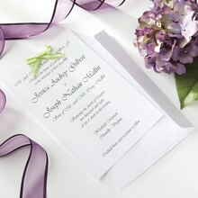 Celebrate It Occasions Wedding Invitations, White