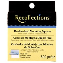 Recollections Double-Sided Mounting Squares, Repositionable