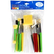 ArtMinds Stencil Brush Super Value Pack, 25 Count