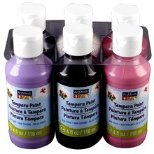 ArtMinds Tempera Paint, 6-Pack, Girly Colors