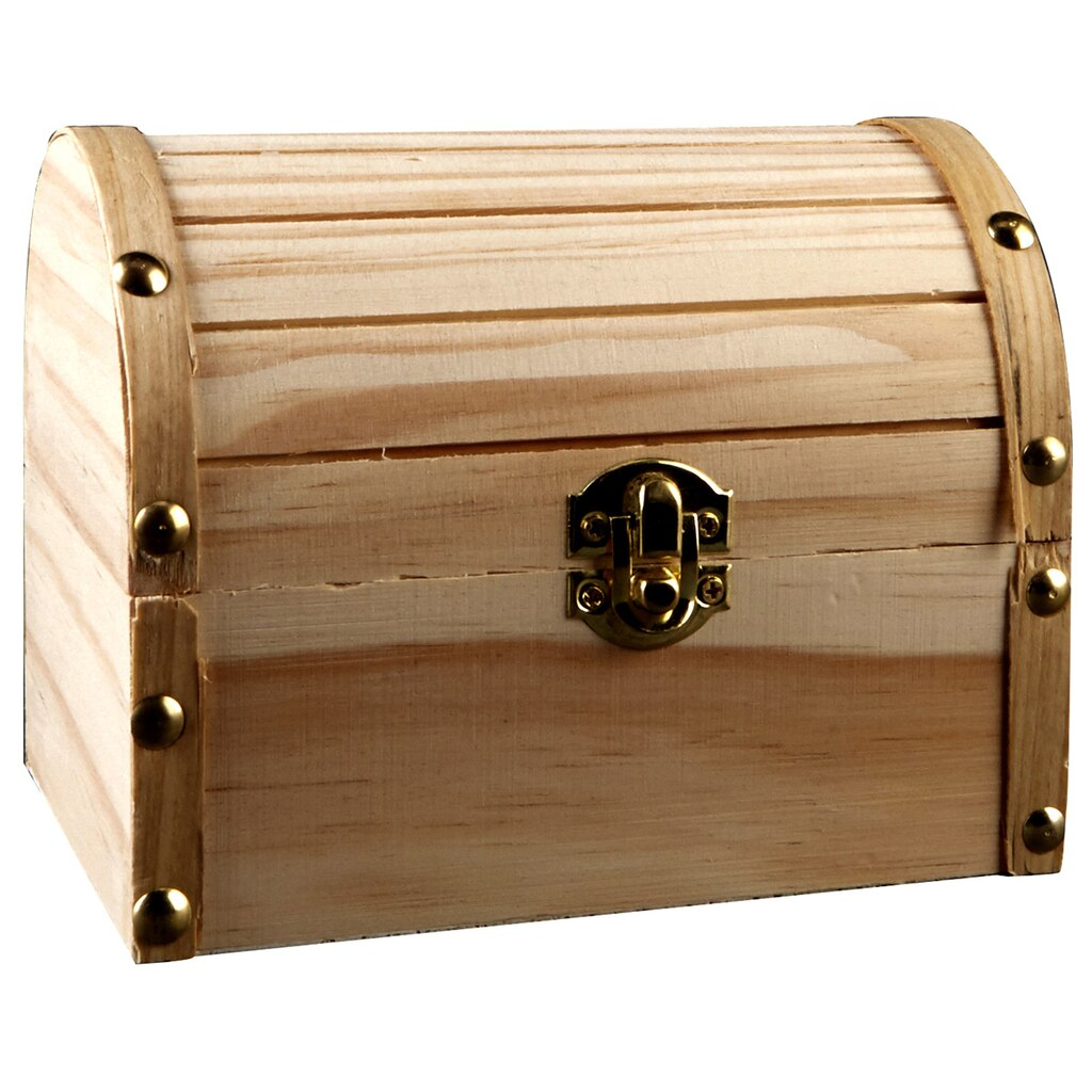 Wood Pirate Chest ~ Artminds medium wooden domed box