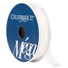 "Celebrate It Mega Shimmer Ribbon, 5/8"", White"