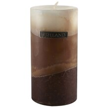 "Vanilla Zig Zig Pillar by Ashland Decor Scents, 3"" x 6"""