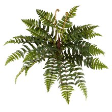 Ashland Fern Collection Leather Fern Bush