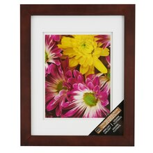 """Studio Décor Airfloat Gallery Wall Frame with Double White Mat, Walnut 8"""" x 10"""""""