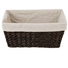 Ashland Water Hyacinth Storage Basket with Liner, Small