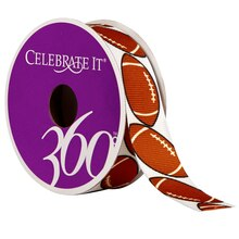Celebrate It 360 Grosgrain Ribbon, Football