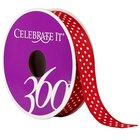 """5/8"""" Grosgrain Small Polka Dots Ribbon by Celebrate It 360°, Red"""