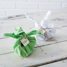 Stamped Fabric Gift Wrap